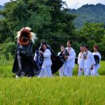 """Iide-town,  """"Shishi-mai""""(Lion Dance)"""