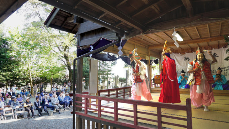 Otama village, local tradition to wish good harvest